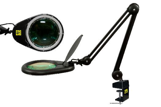 Бестеневая лампа с увеличительной линзой L-62 ESD